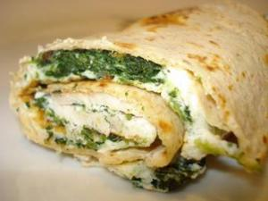 Cookin' Greens - Herbed Cheese and Greens Wrap