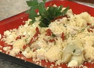 Cous-Cous with Chicken, Artichokes and Sun-dried Tomatoes
