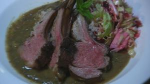 Lamb in Fresh Mint Sauce with Wild West Rice