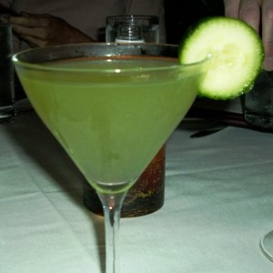 The fresh and simple - cucumber martini.