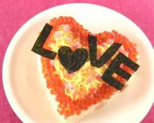 Chirashizushi for Valentine's Day