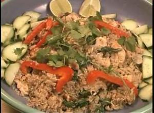 Thai Chicken Fried Rice With Basil