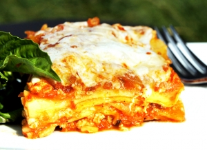 Roasted Vegetable Lasagna    + Homemade Marinara Sauce