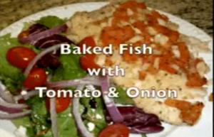 Baked Tilapia With Tomato And Onion