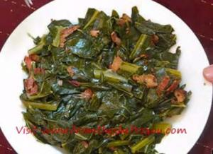 Simmered Collard Green and Bacon