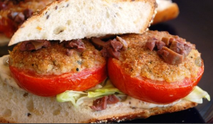 Roasted Parmesan Tomato Sandwiches