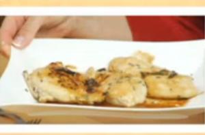 "Christmas Santa (Chicken) Scallopini on ""Simply Delicious Living with Maryann"""
