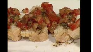 Fresh Tomato Bruschetta with Pesto Lime Marinade