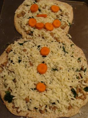 Snowman Pizza Fun