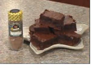 Cocoa Chili Truffle Brownies