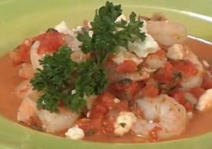 Shrimp with Tomatoes and Feta Cheese