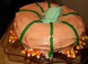 Halloween Pumpkin Cream Cheese Cake
