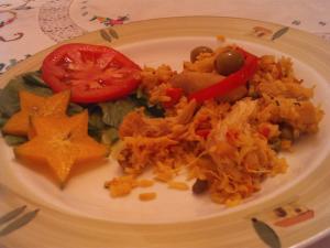 Doña Rossana cooks Arroz con Pollo