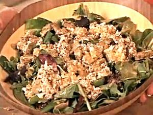 Coconut Oil, Hot Tempeh and Goat Cheese Salad