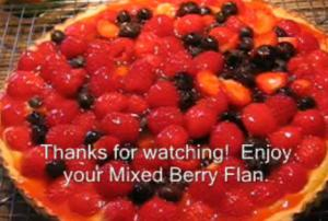 Summer Berry Flan
