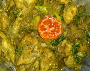 Onion Chicken Fry