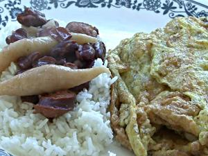 Simple & Cheap Dinner: Chicken, Bean and Egg