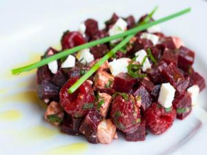 Beetroot, Feta and Raspberry Salad