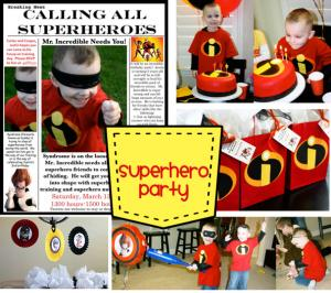 Superhero theme parties are well received by kids.