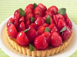 Summer Sugarless Strawberry Tart