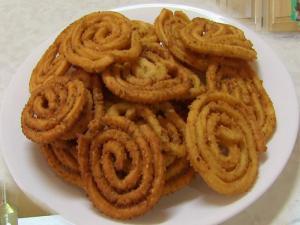 Chakri or Murukku - Rice Spirals