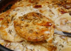 Potato Bake With Cheese