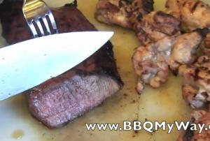 Grilled Beef Steak and Chicken Fajita