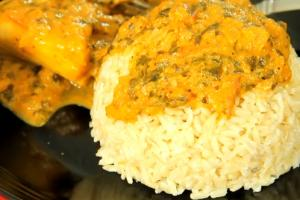 Healthy Fish Curry with Brown Rice