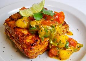 Wolfgang Puck's Tuna With Grilled Summer Vegetable Salsa