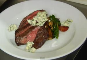 SIDECAR Skirt Steak With Roasted Beets & Blue Cheese