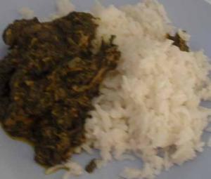 Cassava Leaves Sauce - African Food - Feuilles de Manioc
