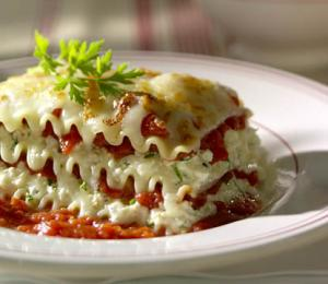 Marrying wine into lasagna sauce give a rich aromatic flavor to the entire dish
