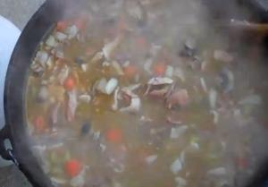 Outdoor Turkey Soup