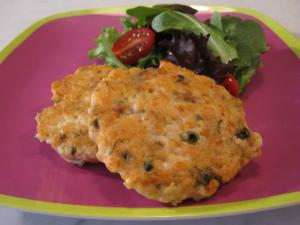 Salmon and Vegetable Burgers
