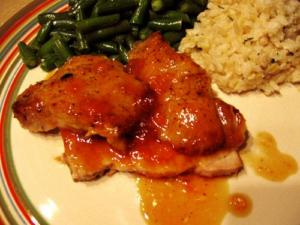 Pork Loin with Tangerine Sauce