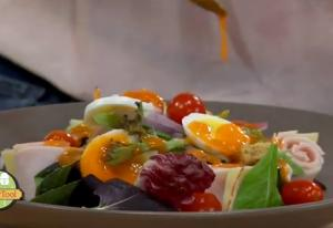Egg Meat and Vegetable Salad