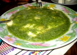 Hot Carpaccio with Salsa Verde