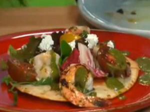 Sara Foster's Quick Shrimp Tostada