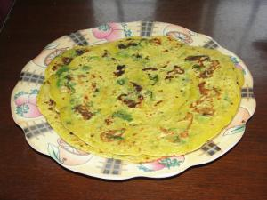 Besan Ka Cheela With Coriander And Green Chilies