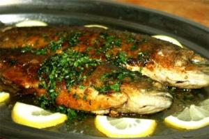 Grilled Trout With Walnuts