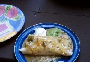 Outdoor Wet Pork Burritos