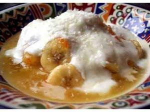 Baked Bananas With Vanilla Cream