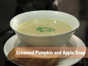 Creamed Pumpkin and Apple Soup