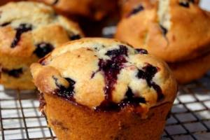 Lemon Twist Blueberry Muffins
