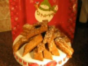 Christmas Ginger Strips