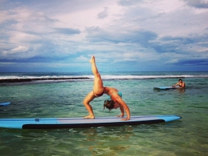 Handstand Yoga Workout in Hawaii