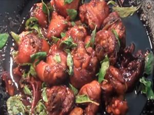 Chicken Braised in Wine and Sesame Oil