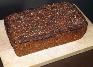 Rye Bread With Caraway Seeds Sweetened With Malt Extract