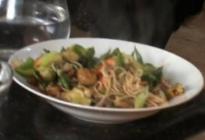 Spicy Stir Fried Vegetables with Noodles