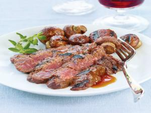 Grilled Teriyaki Sirloin Steak Tips